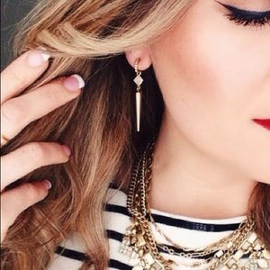 91733b8ad308d Bianca Gold Earrings with detachable piece
